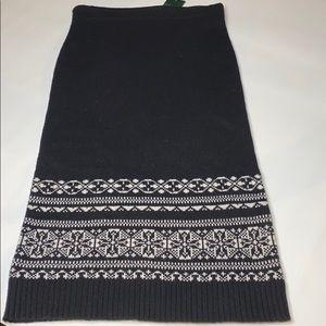 NWT LAUREN Ralph Lauren black sweater skirt S